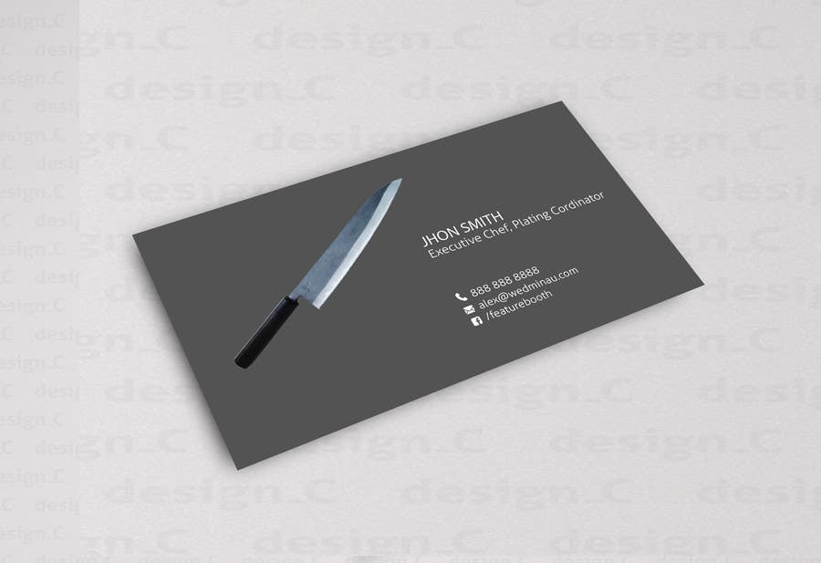 Entry #3 by dnoman20 for Design business Card for Restaurant ...
