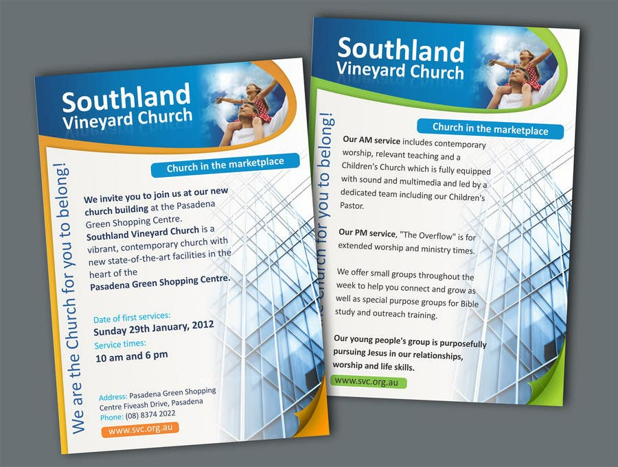 Contest Entry #63 for Flyer Design for Southland Vineyard Church
