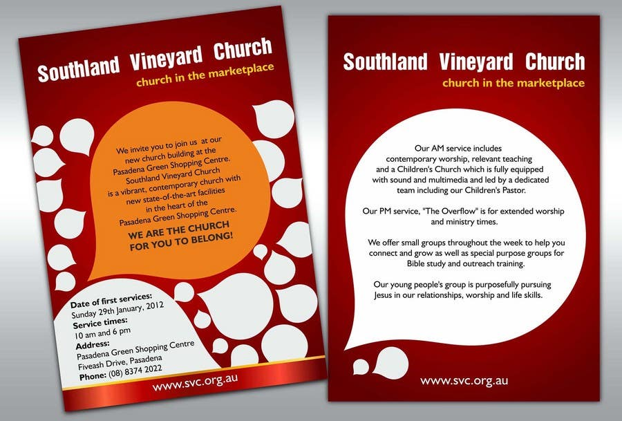 Contest Entry #5 for Flyer Design for Southland Vineyard Church
