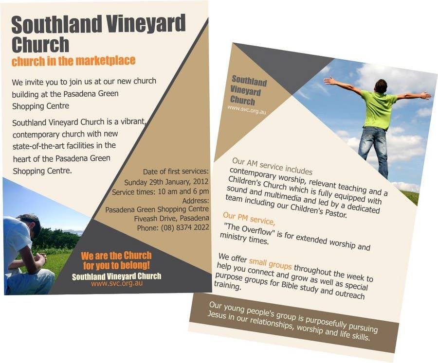 Participación en el concurso Nro.62 para Flyer Design for Southland Vineyard Church