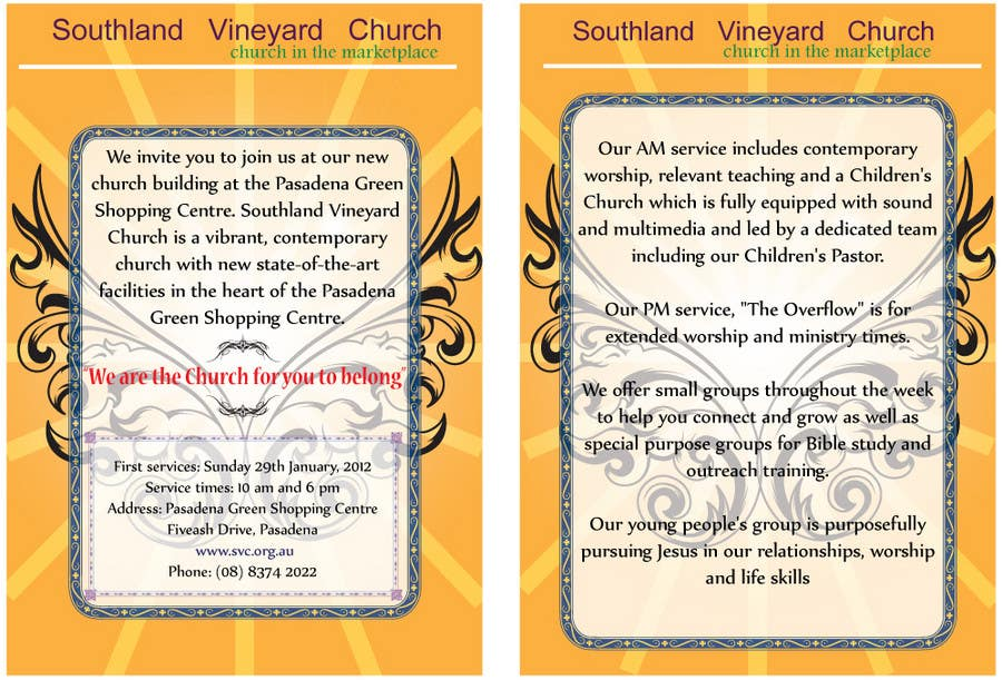Contest Entry #42 for Flyer Design for Southland Vineyard Church