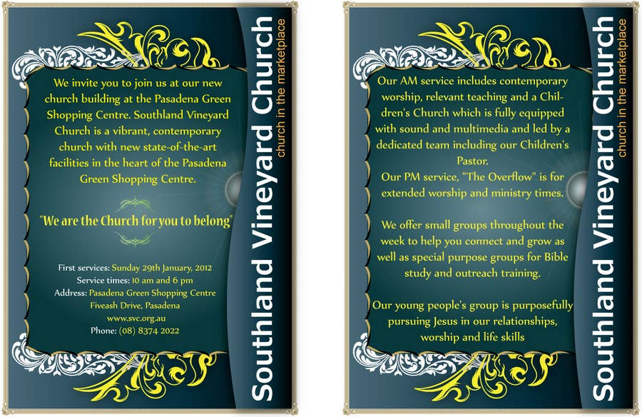 Contest Entry #58 for Flyer Design for Southland Vineyard Church