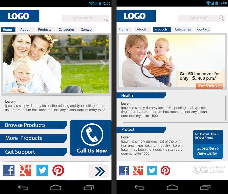 Bài tham dự cuộc thi #                                        13                                      cho                                         Design a Mobile Website Mockup for a multinational insurance company