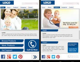 #13 untuk Design a Mobile Website Mockup for a multinational insurance company oleh sreenu53