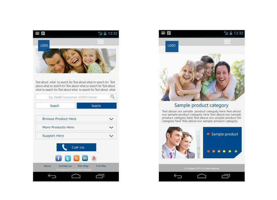Bài tham dự cuộc thi #                                        8                                      cho                                         Design a Mobile Website Mockup for a multinational insurance company