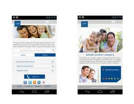#8 untuk Design a Mobile Website Mockup for a multinational insurance company oleh king5isher