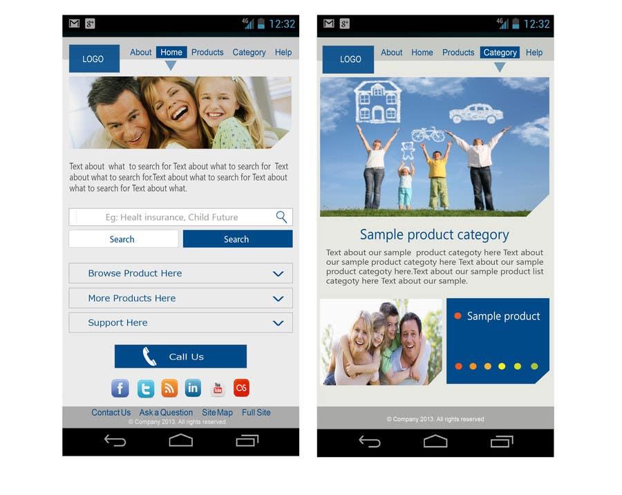 Bài tham dự cuộc thi #                                        9                                      cho                                         Design a Mobile Website Mockup for a multinational insurance company
