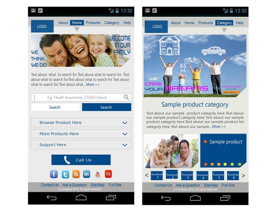 Bài tham dự cuộc thi #                                        14                                      cho                                         Design a Mobile Website Mockup for a multinational insurance company