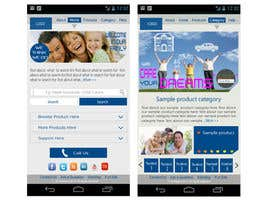 #15 untuk Design a Mobile Website Mockup for a multinational insurance company oleh king5isher