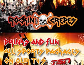 nº 1 pour Design a Banner for Rockin' Crepes in Huntington Beach par stevednp3