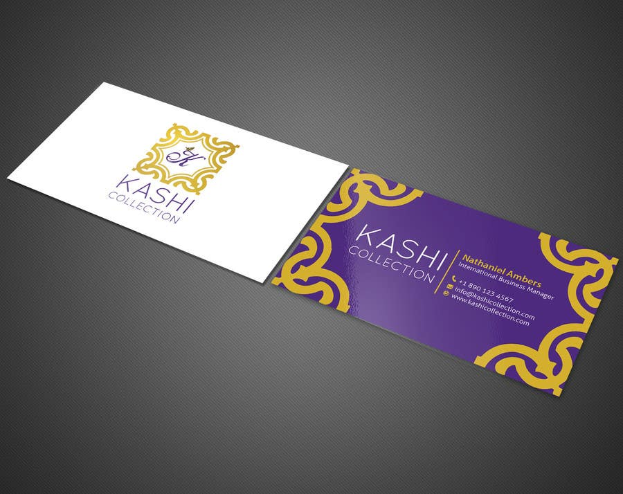 Design business cards for an international fashion brand for International decor brands
