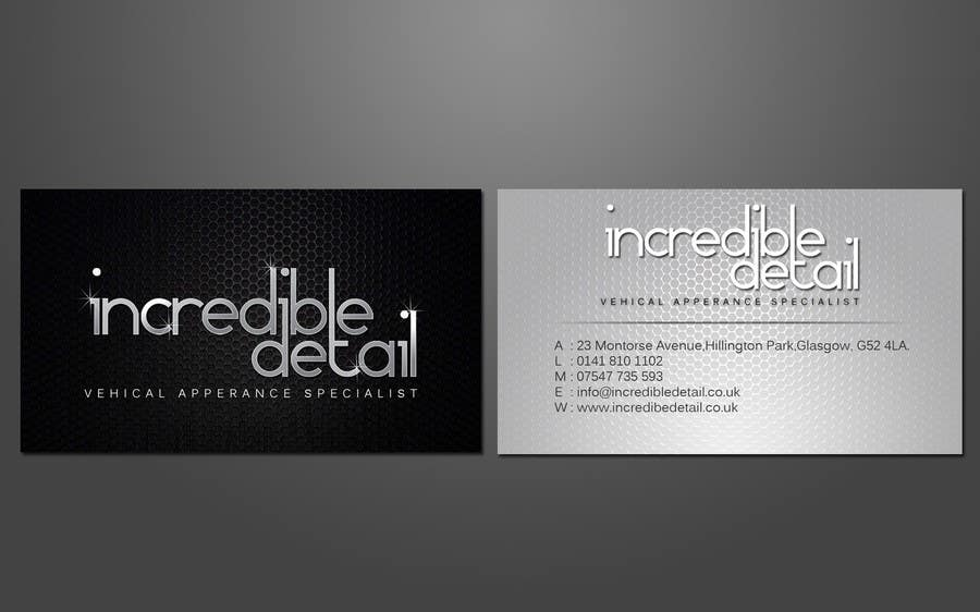 Design some Business Cards for Car Detailing pany