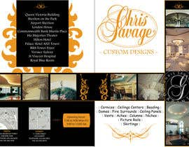 nº 37 pour Brochure Design for Chris Savage Plaster Designs par bluewhaleds
