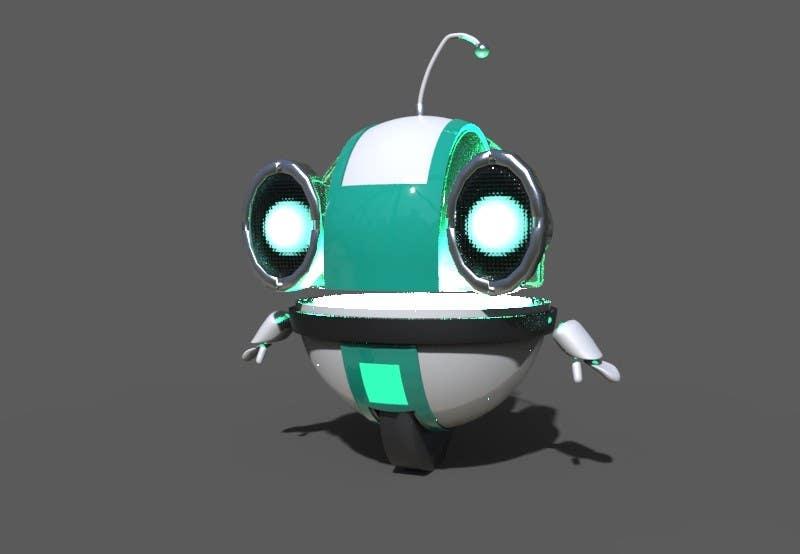 3d model a cute robot freelancer