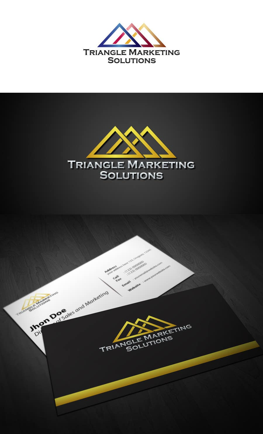 Penyertaan Peraduan #48 untuk Design a Logo for Traingle Marketing Solutions