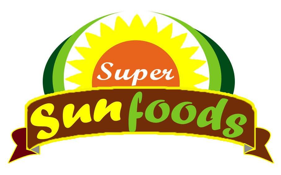 Penyertaan Peraduan #94 untuk Design a Logo for Super Sunfoods: Your Health Supplement Store