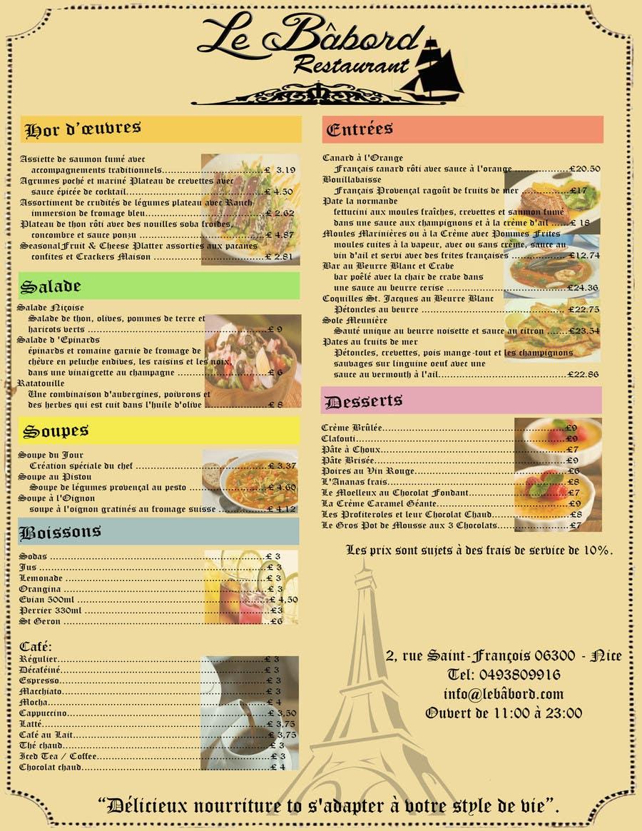 entry 2 by christiandy94 for design a food menu leaflet freelancer. Black Bedroom Furniture Sets. Home Design Ideas