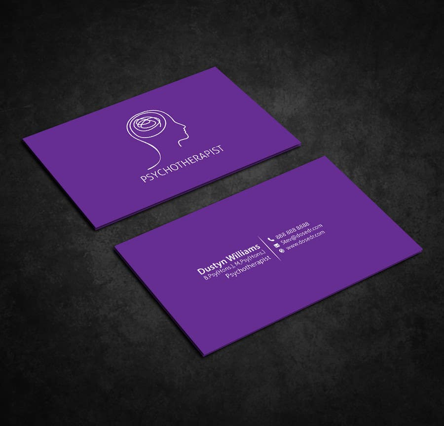 Entry #95 by dnoman20 for Psychotherapy Business cards | Freelancer