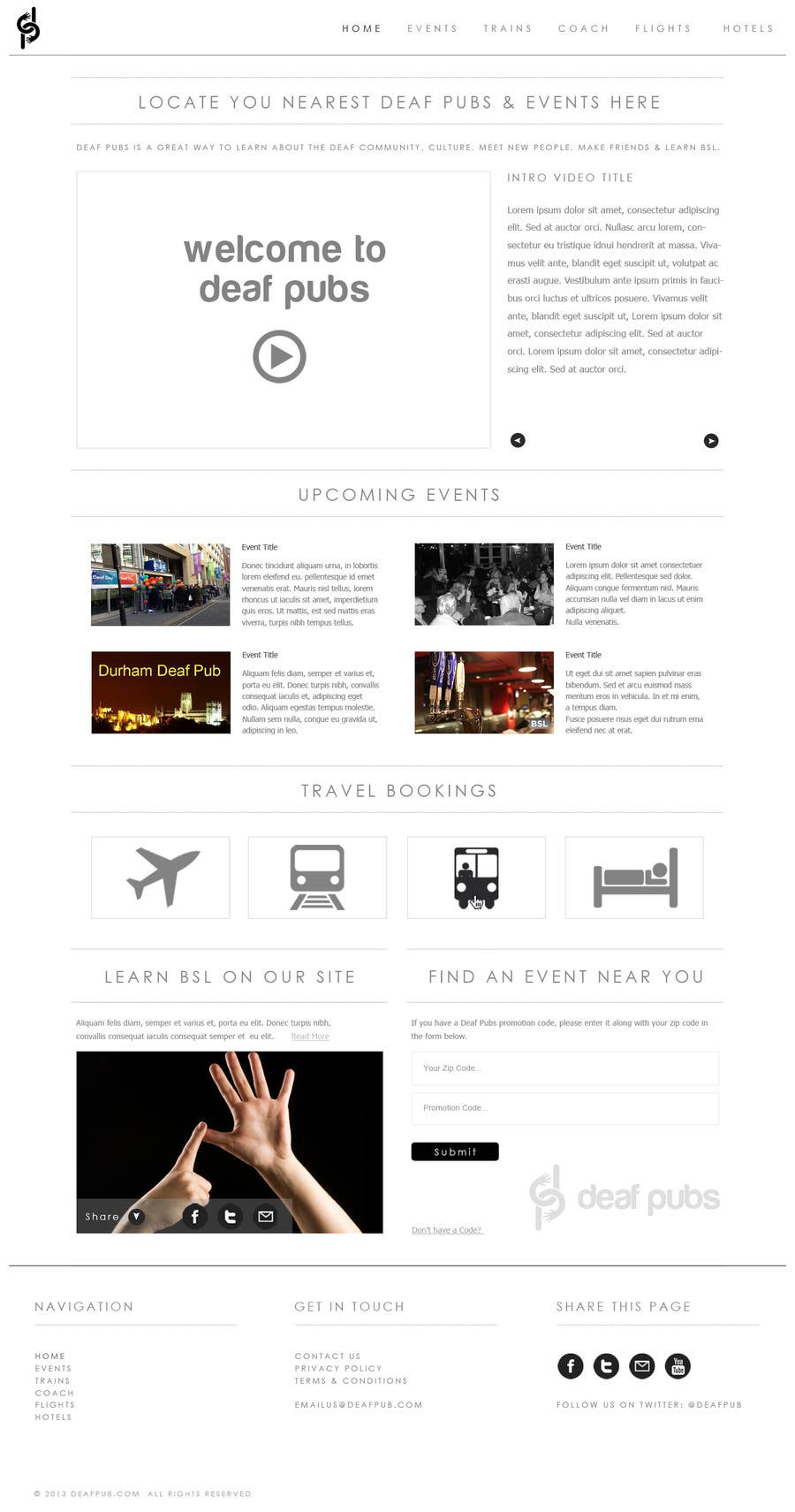 #8 for Design a Website Mockup for Deaf Pubs by JosephNgo