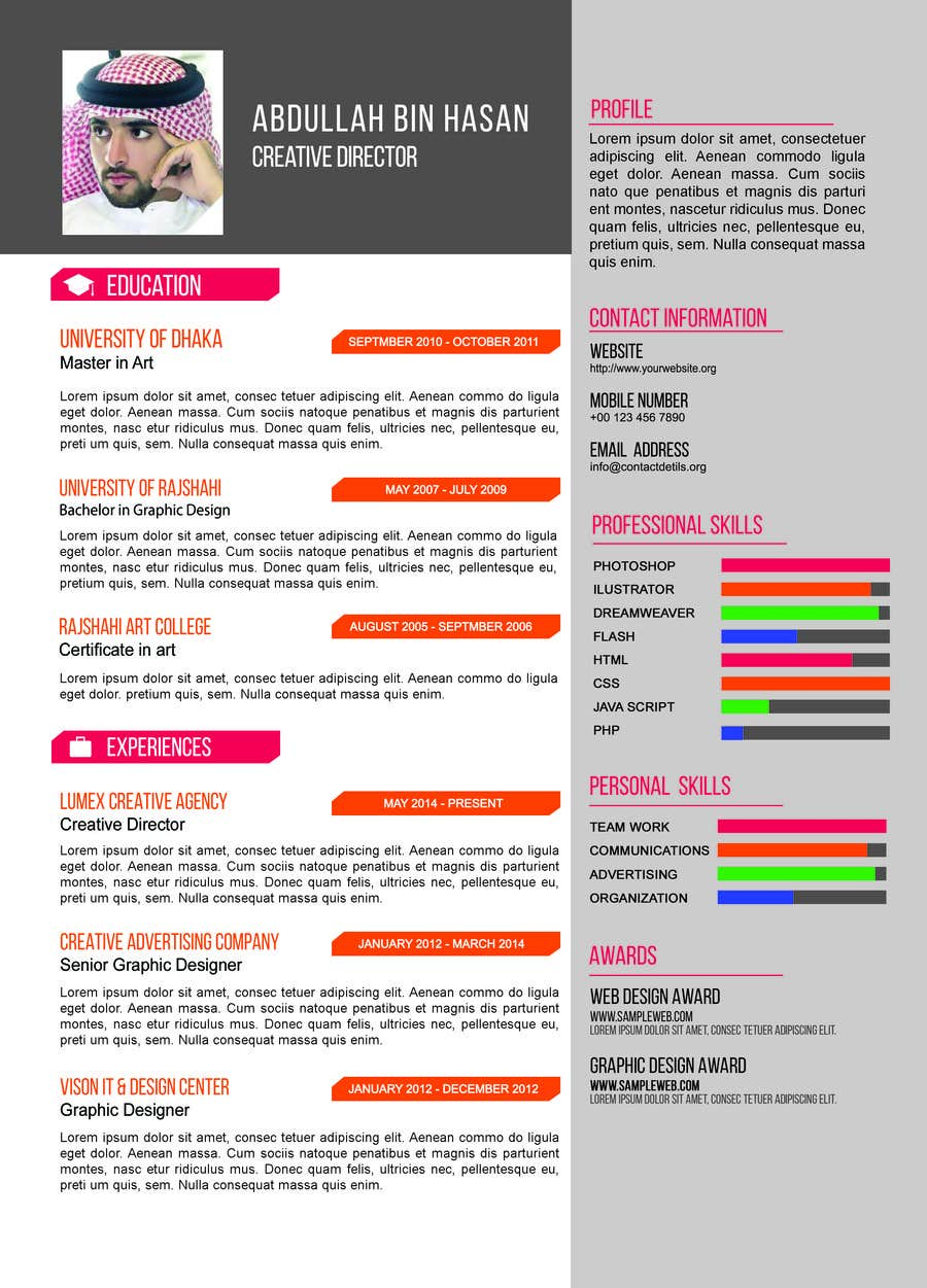 i need to buy 10 infographic cv template  6 in arabic languages  4 in english