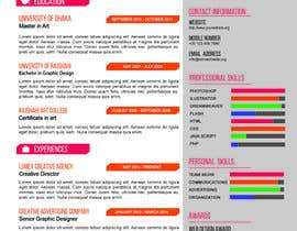 #12 para I need to buy 10 infographic CV template (6 in Arabic Languages, 4 in English) por atikul4you