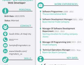 #30 para I need to buy 10 infographic CV template (6 in Arabic Languages, 4 in English) por fatmaelzhraamo
