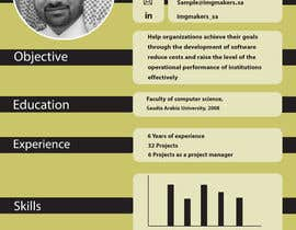 #14 para I need to buy 10 infographic CV template (6 in Arabic Languages, 4 in English) por sarahusf36