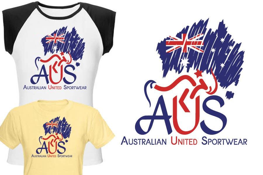 Bài tham dự cuộc thi #                                        55                                      cho                                         T-shirt Design for Australian United Sportswear