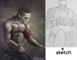 raphaelperalta tarafından Illustrate a massive muscular character for company mascot - must be original work!! için no 7