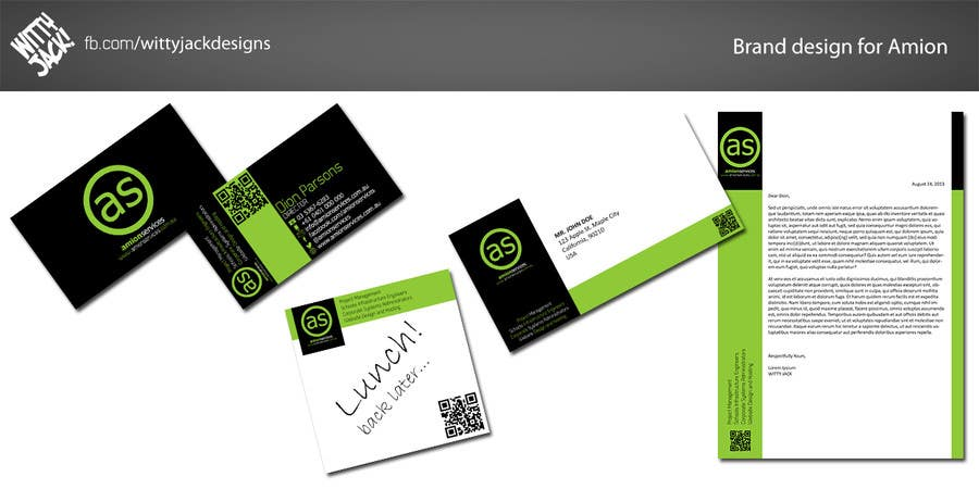 Bài tham dự cuộc thi #                                        8                                      cho                                         Design some Stationery for Amion Services