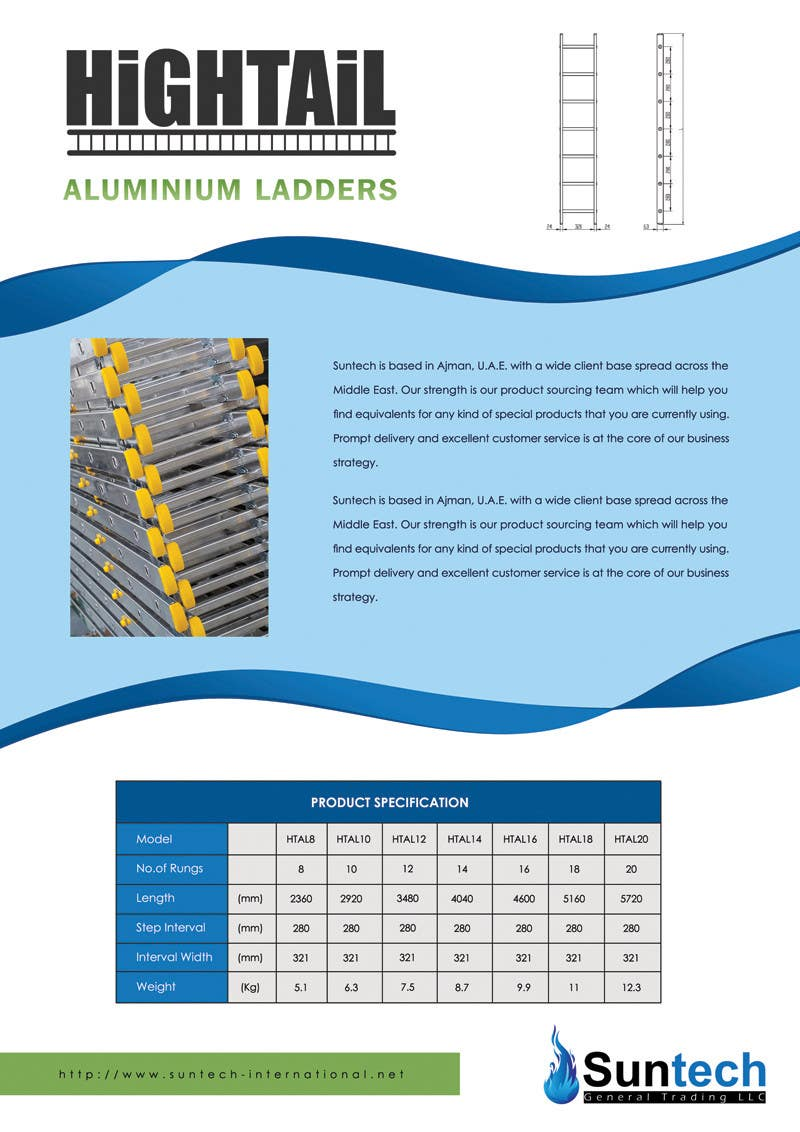 Proposition n°16 du concours Design a Two Page Brochure for HIGHTAIL Ladders & Casters
