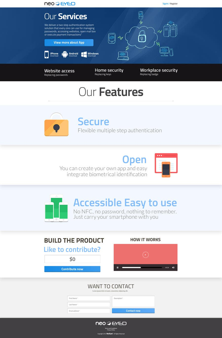 #15 for Create a landing page for neoEYED by snali