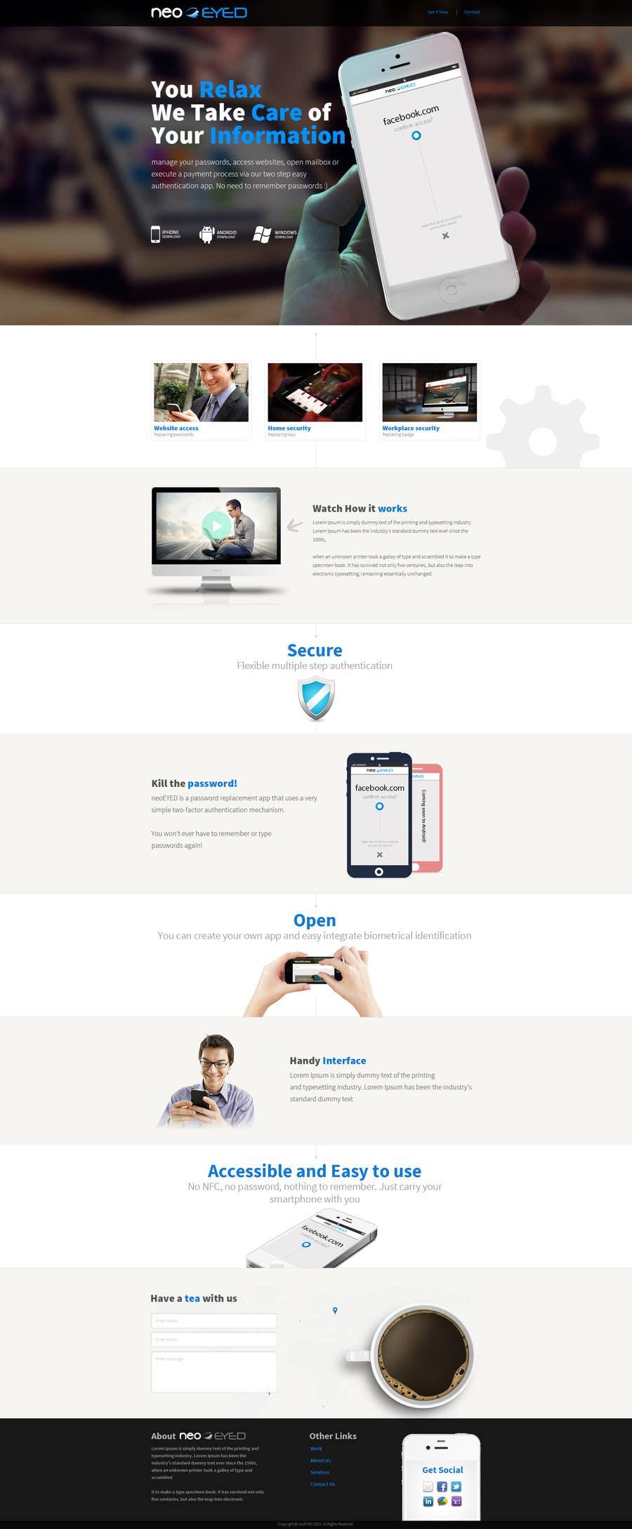 Kilpailutyö #25 kilpailussa Create a landing page for neoEYED