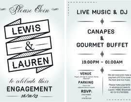 nº 6 pour DESIGN MY ENGAGEMENT PARTY INVITATIONS par SimonMerritt