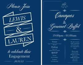 nº 7 pour DESIGN MY ENGAGEMENT PARTY INVITATIONS par SimonMerritt