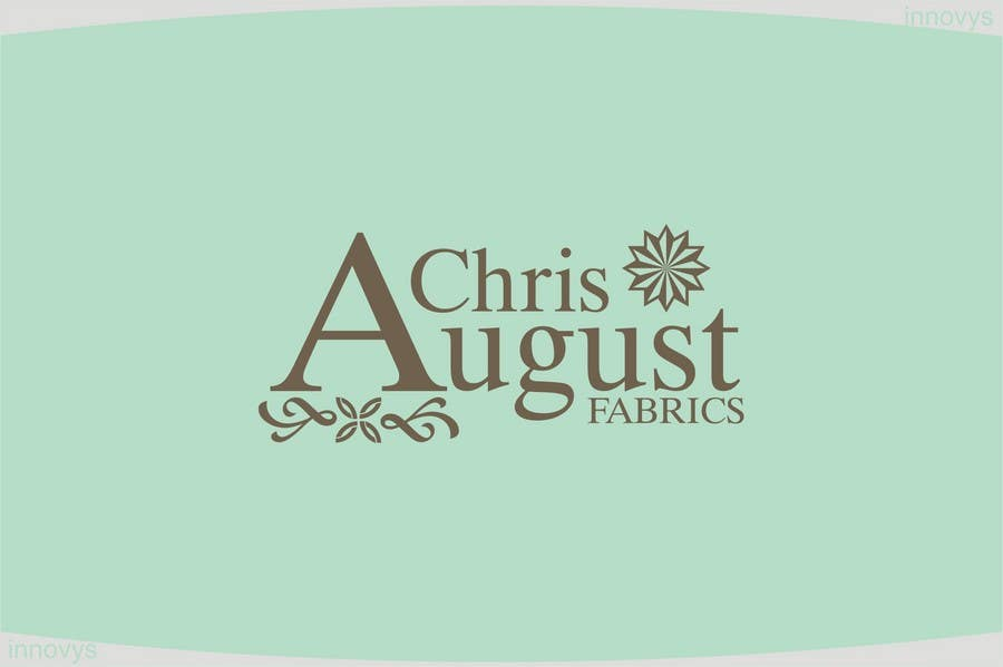 #158 for Logo Design for Chris August Fabrics by innovys