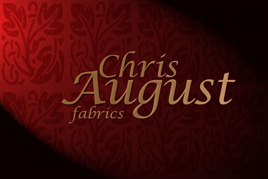 #165 for Logo Design for Chris August Fabrics by GlenTimms