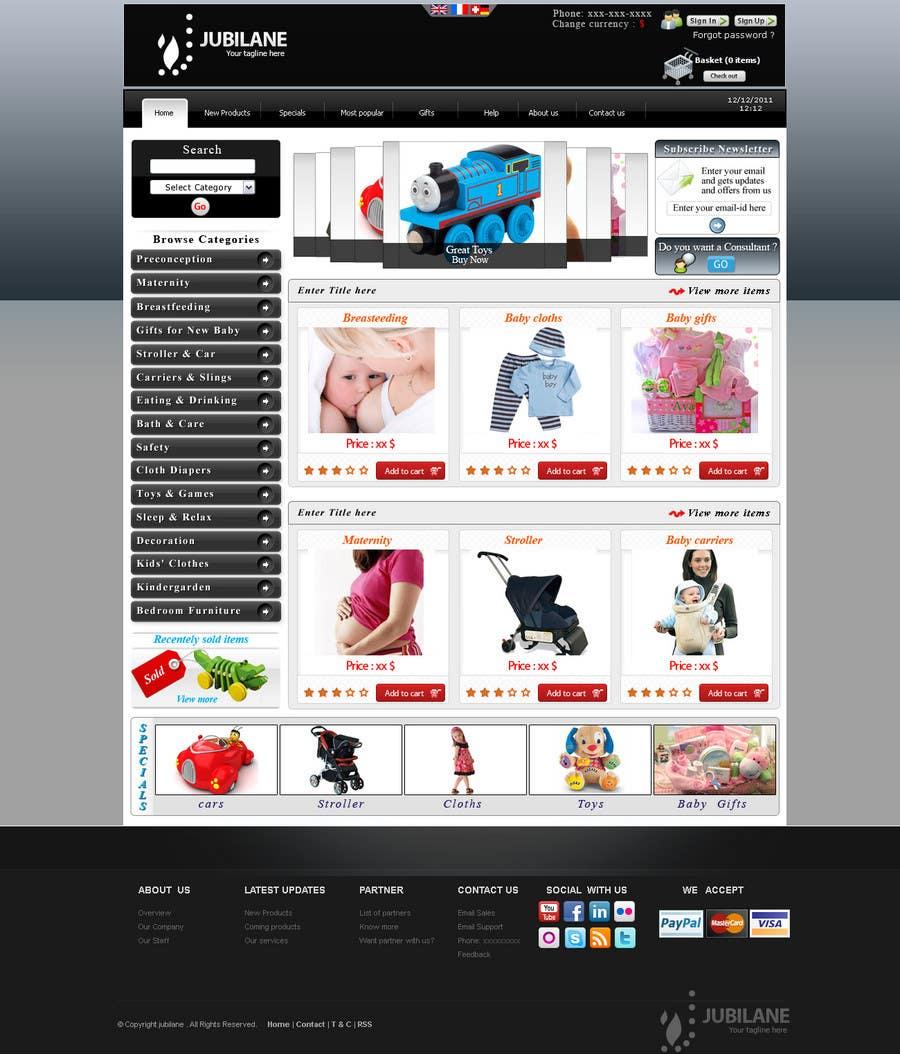 Конкурсная заявка №24 для Custom Oscommerce Template - Jubilane Website Design
