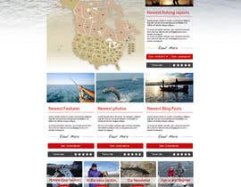 grafixeu tarafından Design a Website Mockup for Sport Fish Junkies için no 13