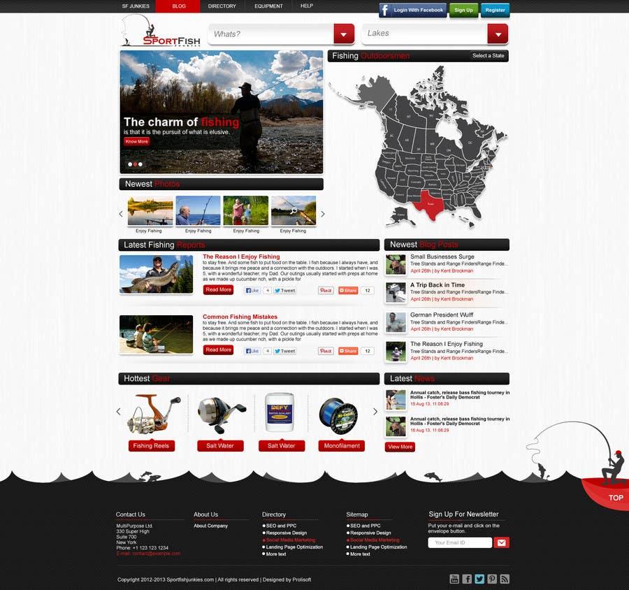 Proposition n°8 du concours Design a Website Mockup for Sport Fish Junkies