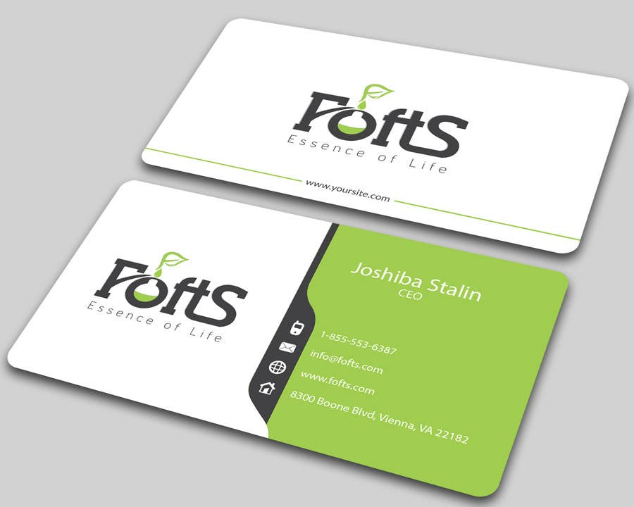 Entry 73 by ALLHAJJ17 for Business Card for Essential oil company