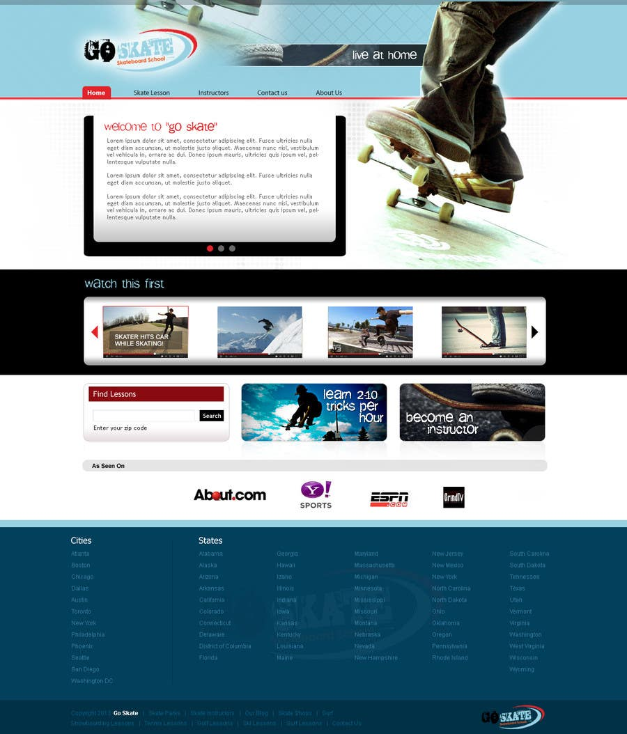 #11 for Build a new Website for Goskate.com by softsolution013