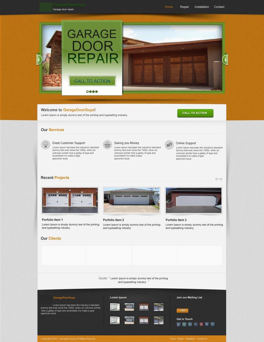 #18 for Create a Wordpress Template for Garage Door Guys responsive website by kpk1l