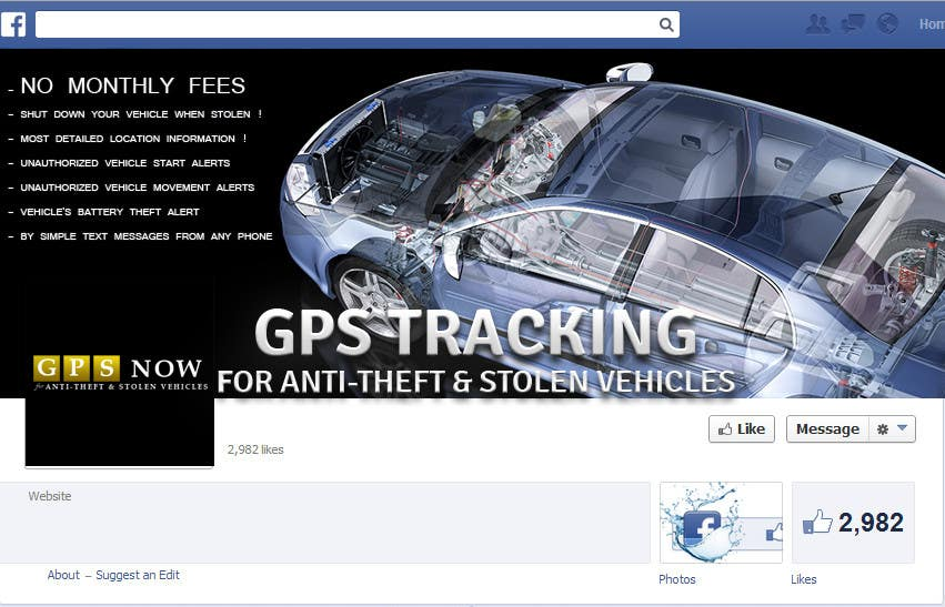 #14 for Design a Facebook coverpage for the website 800sold.co.tt and a Coverpage design for a GPS tracking business by Zeshu2011