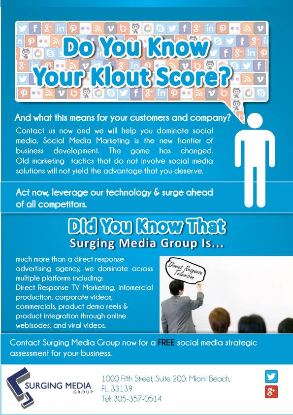 #16 for Design a Flyer for Surging Media Group by blackd51th