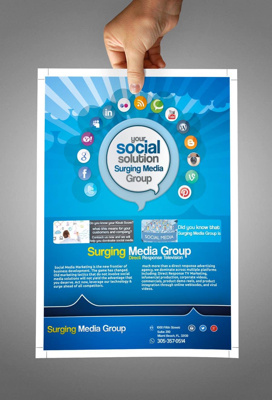 Design a Flyer for Surging Media Group için 10 numaralı Yarışma Girdisi