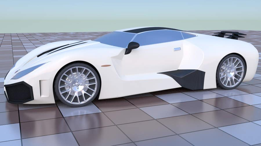 Entry #4 by dazhazit for A 3D model of my car drawings for printing ...