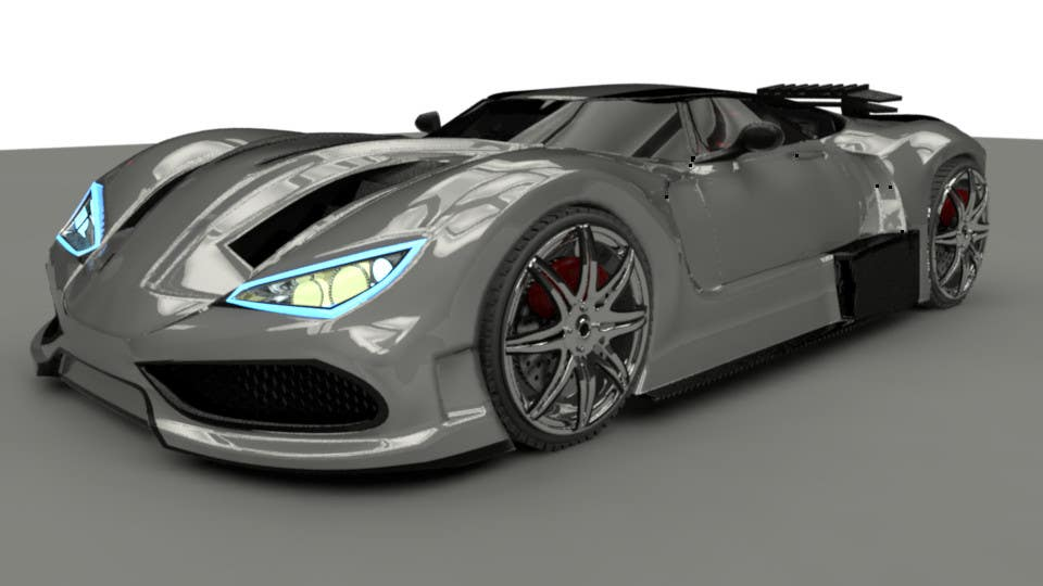 Entry #1 by bulletirde for A 3D model of my car drawings for ...