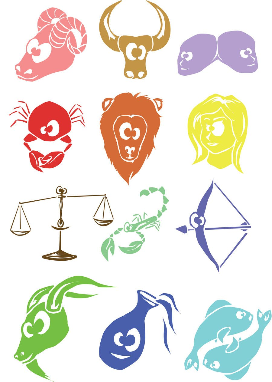 #14 for Horoscope signs vector illustration needed by andradanicola