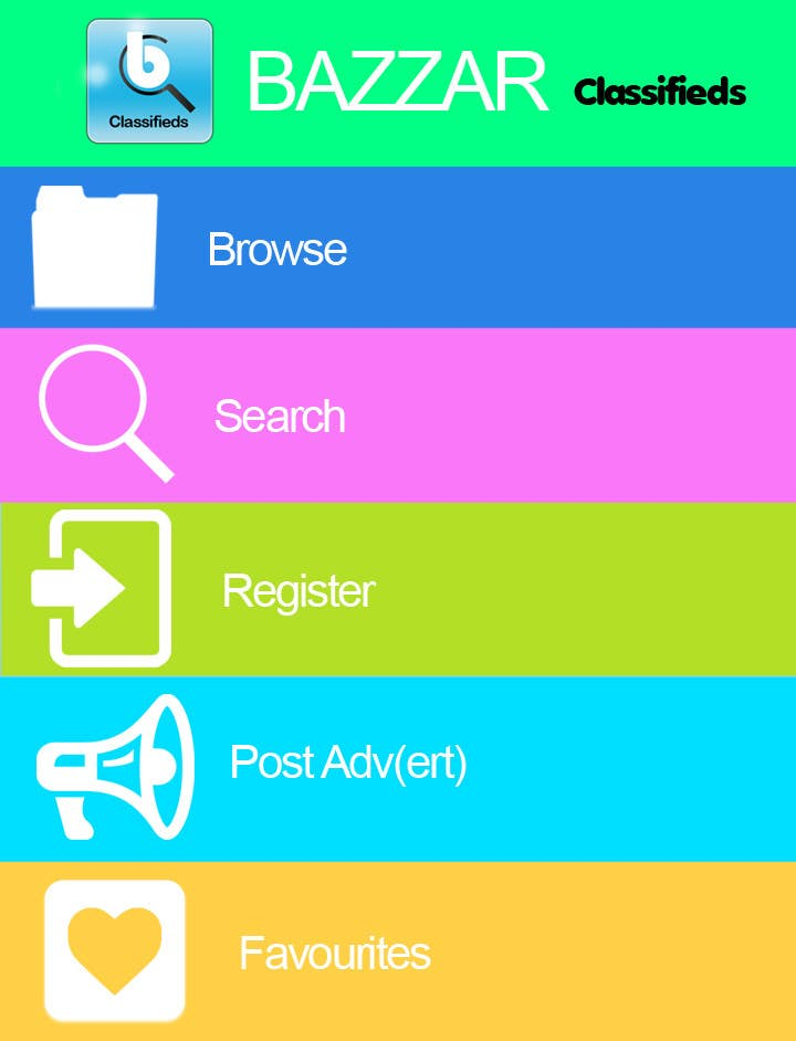 #20 for Design front page for Classifieds Mobile app by MagicalDesigner